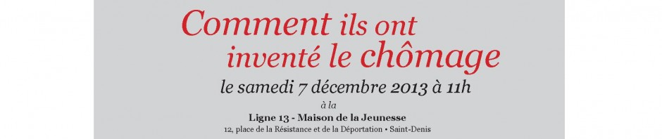 INVITATION à SAINT DENIS LE 7 Décembre 2013 à 11h